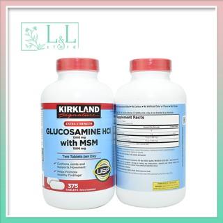 DATE 2022 Viên uống Glucosamin HCL 1500mg With MSM 1500mg glucosamine Kirkland 375 Viên