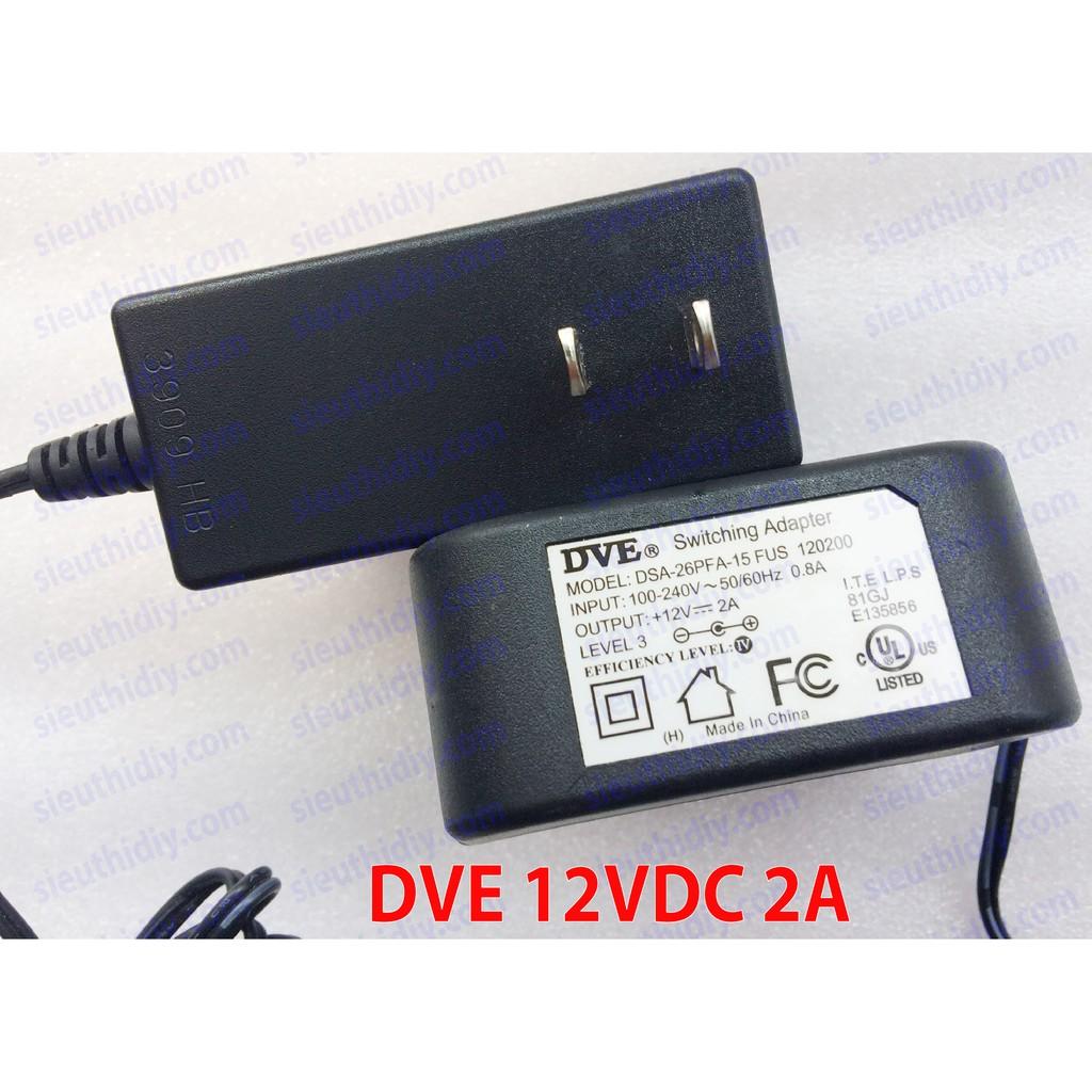 Adapter 12VDC 2A DVE chính hãng 2nd