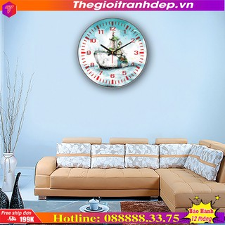 [SALE]- Đồng hồ tròn treo tường con tàu vượt đại dương