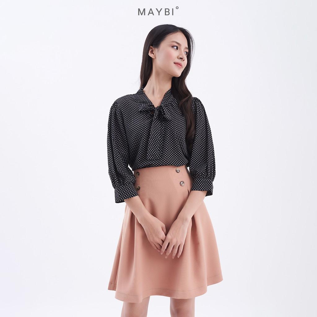 MAYBI - Chân váy A nút kiểu Letitia Skirt