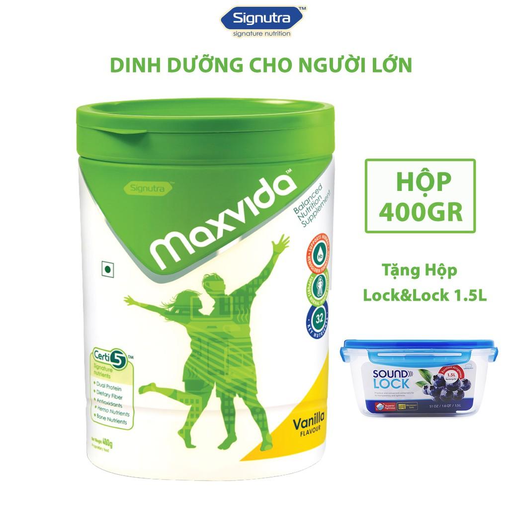 [Tặng Hộp Lock&Lock 1.5L] Combo 1 lon sữa Maxvida 400gr