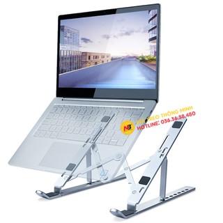 Giá đỡ Laptop – MacBook – Ipad bằng hợp kim nhôm có thể điều chỉnh độ cao, gập gọn gàng – Kệ để Laptop tản nhiệt tốt