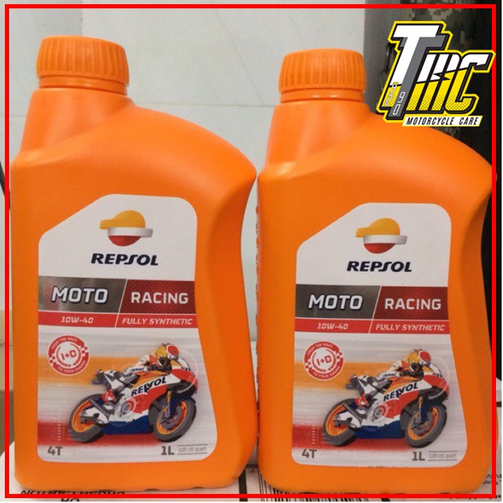 Nhớt Repsol Racing 10W40 4T Fully Synthetic 1 Lít
