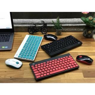 Bộ bàn phím Chuột Không dây Chính hãng Forter 1500, Đen – Đỏ