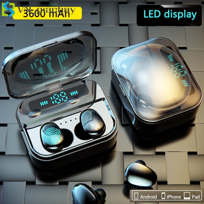 Tai nghe Bluetooth không dây có đèn LED TWS