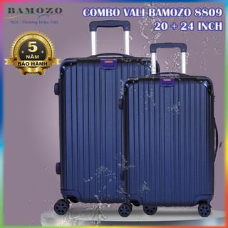 Combo Vali Kéo Du Lịch Size 20 Inch Và 24 Inch Nhựa Cao Cấp Giá Rẻ Bền Đẹp Bảo Hành 5 Năm Bamozo 8809 thumbnail