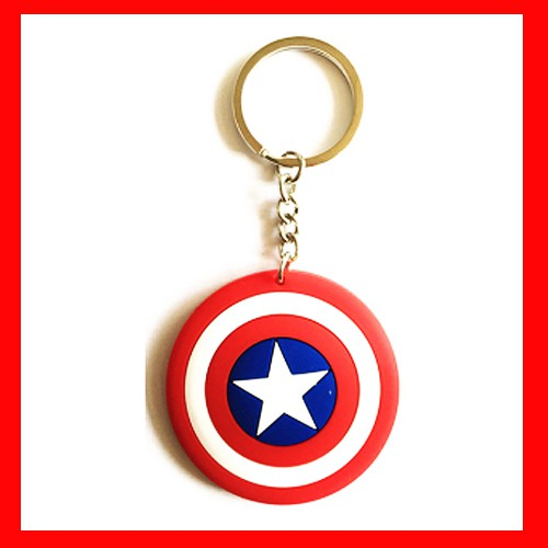Móc gắn chìa khóa AVENGER siêu cute có thể dùng trang trí trên túi xách áo quần