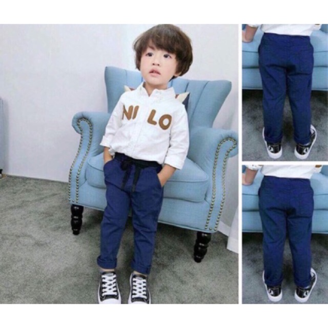 Quần kaki cạp chun cho bé size 8-13kg