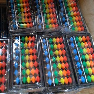 Combo 10 chiếc bàn tính 7 cột nhiều màu