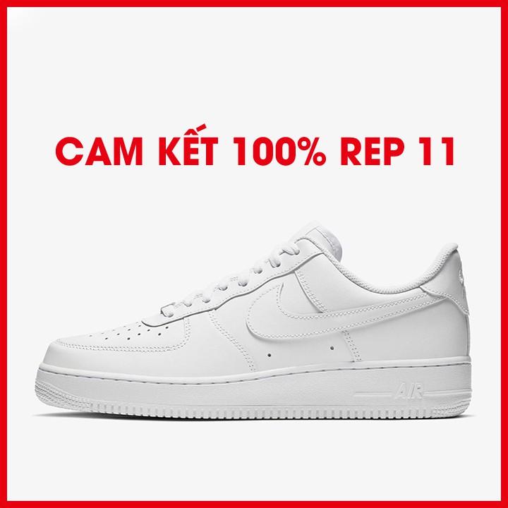 Giày sneaker trắng chất liệu da miếng chống nhăn dễ phối đồ phong cách thể thao