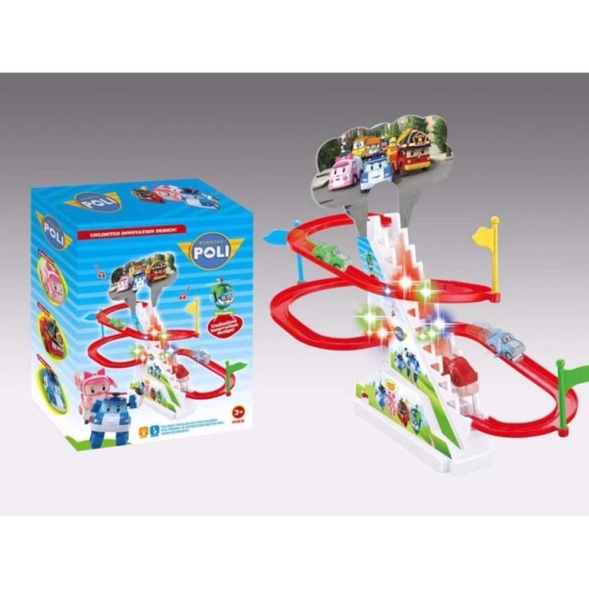 Bộ đồ chơi đua xe oto Poli cho bé