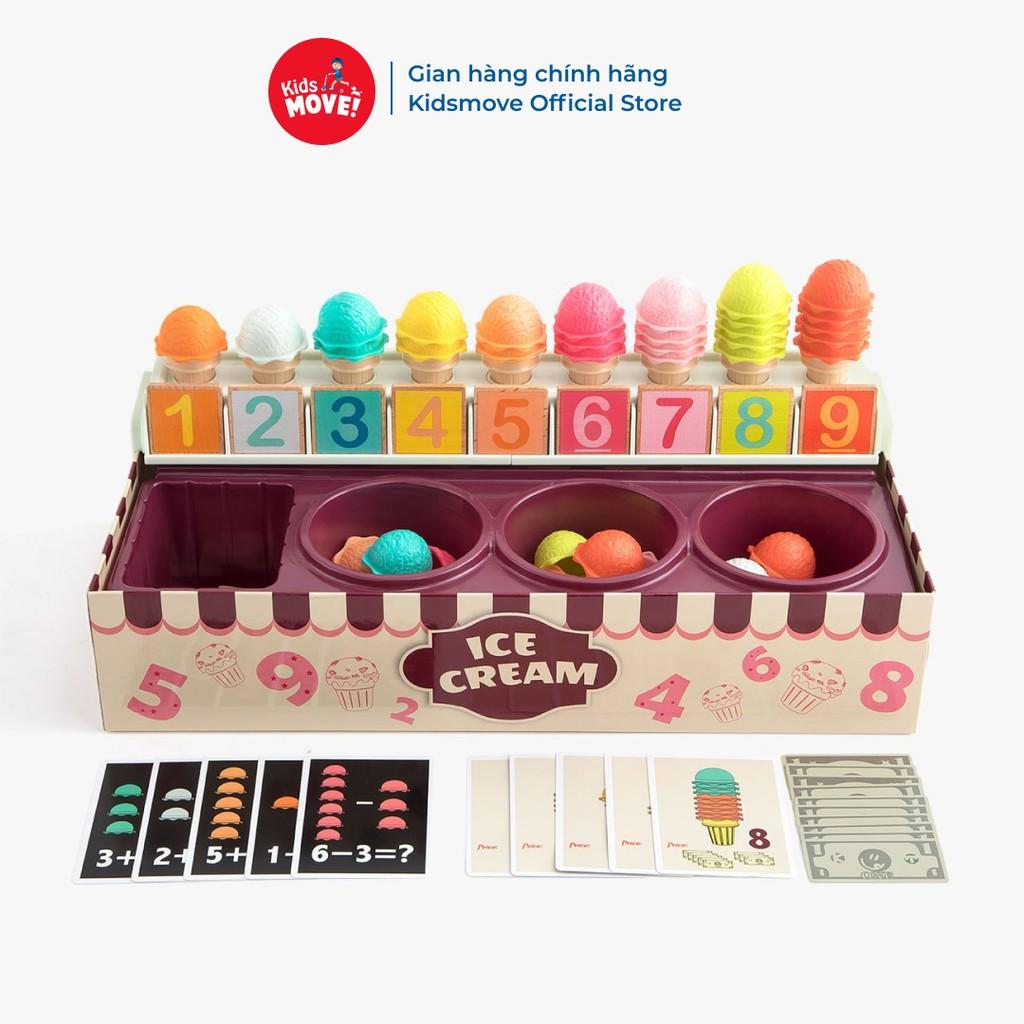 Đồ chơi giáo dục trẻ em bộ bán kem Topbright mô phỏng bé học đếm, học màu vui vẻ, phong cách Montessori
