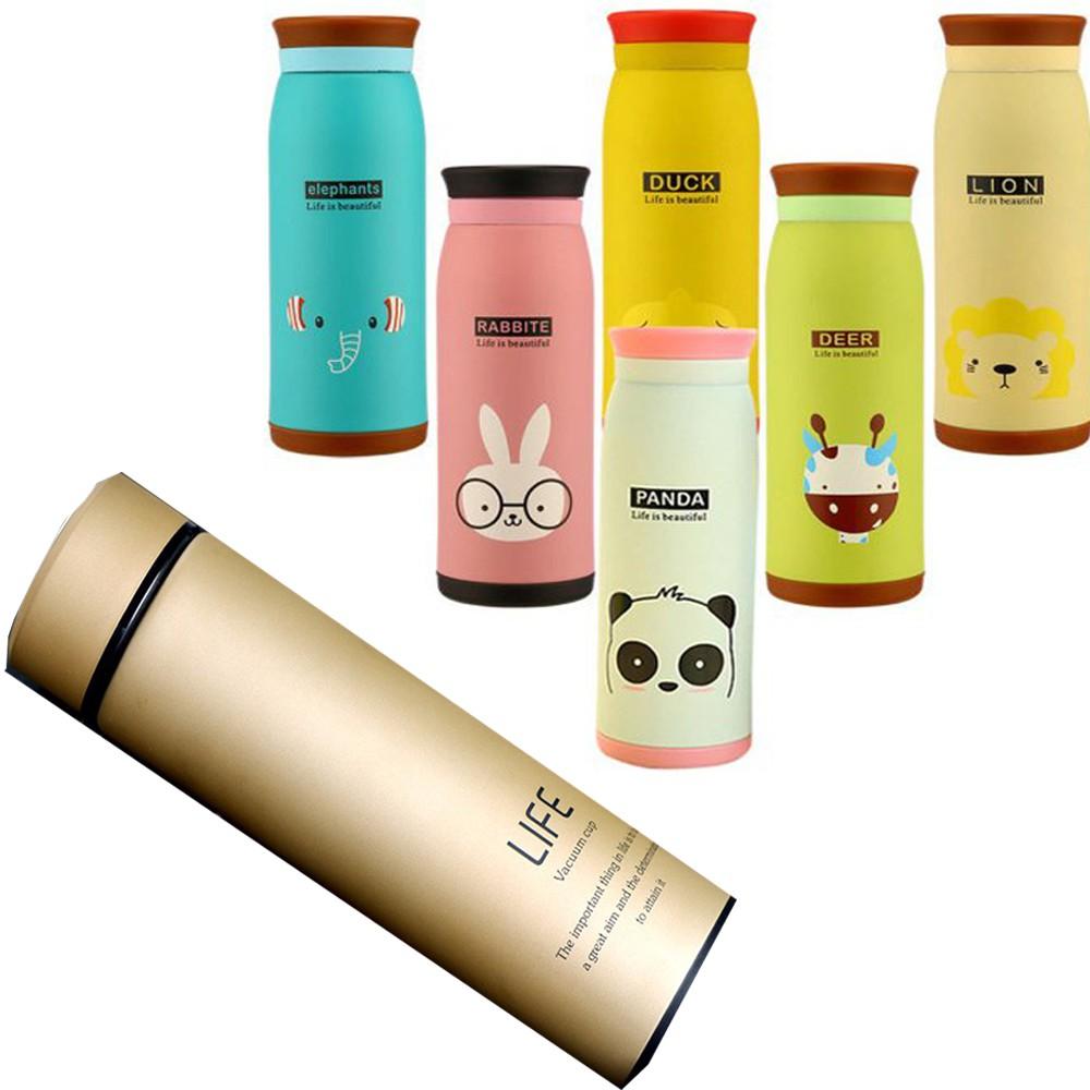 Bình giữ nhiệt LIFE cao cấp sang trọng/ Bình giữ nhiệt hoạt hình kiểu dáng Hàn Quốc 500ml