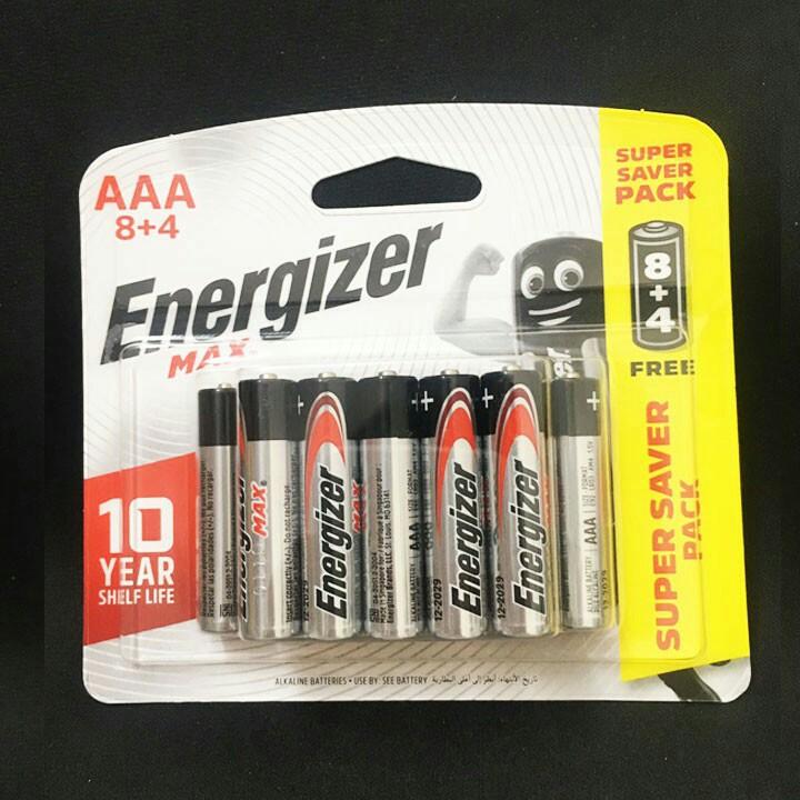 Pin AAA Energizer Alkaline Max - Pin Đũa E92 Vỉ 12 Viên