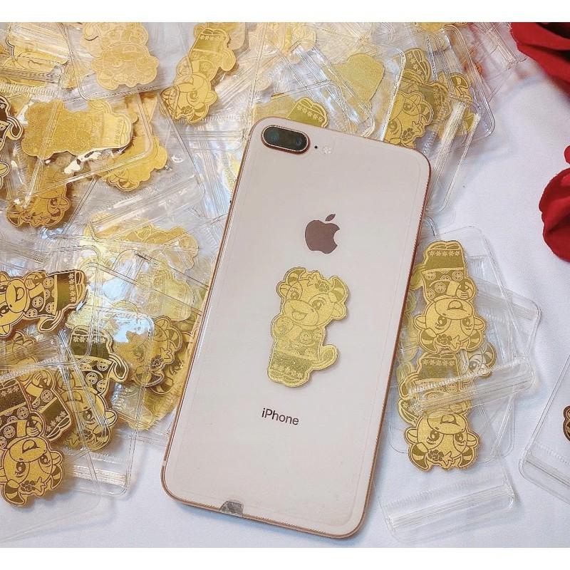 Trâu thần tài , trâu mạ vàng 24kara để ốp điện thoại | Shopee Việt Nam