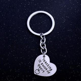★Letters Heart Pendant Alloy Keyring Key Chain Thanksgiving Teachers' Day Gift
