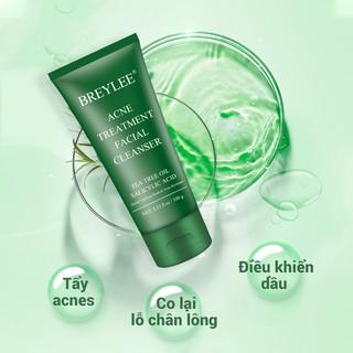 Hình ảnh Sữa rửa mặt BREYLEE cải thiện da mụn đầu đen kiềm dầu làm sạch da 100g-4