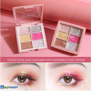 BN NOVO dazzling candy eyeshadow palette, glitter glitter, mashed potatoes, pearlescent eyeshadow does not take off LDYLIST