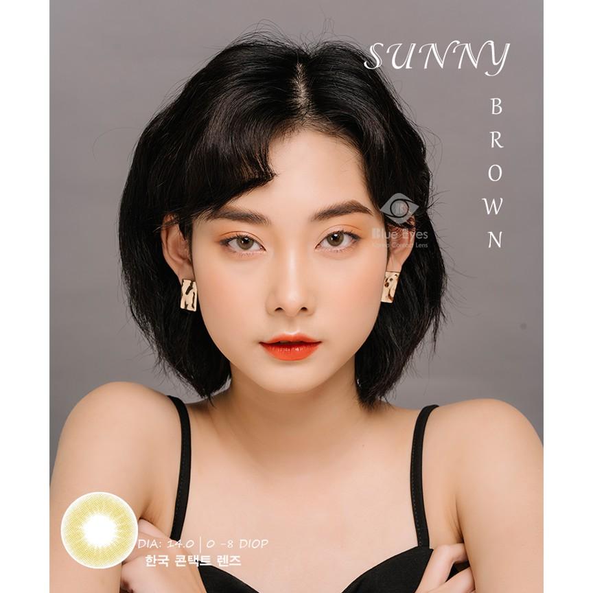 Lens mắt Hàn Quốc chính hãng SUNNY - NÂU- (Độ cận từ 0-8)
