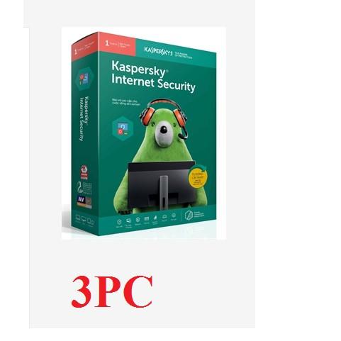 Bản quyền diệt virus Kaspersky Internet Security 3PC Giá chỉ 460.000₫