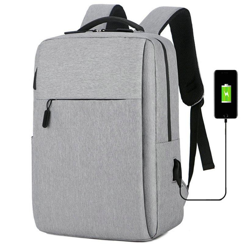 Balo nam, nữ đa năng đựng vừa Laptop - Macbook chất liệu cao cấp, chống thấm, tặng kèm cổng nối cáp sạc tiện lợi HX0031