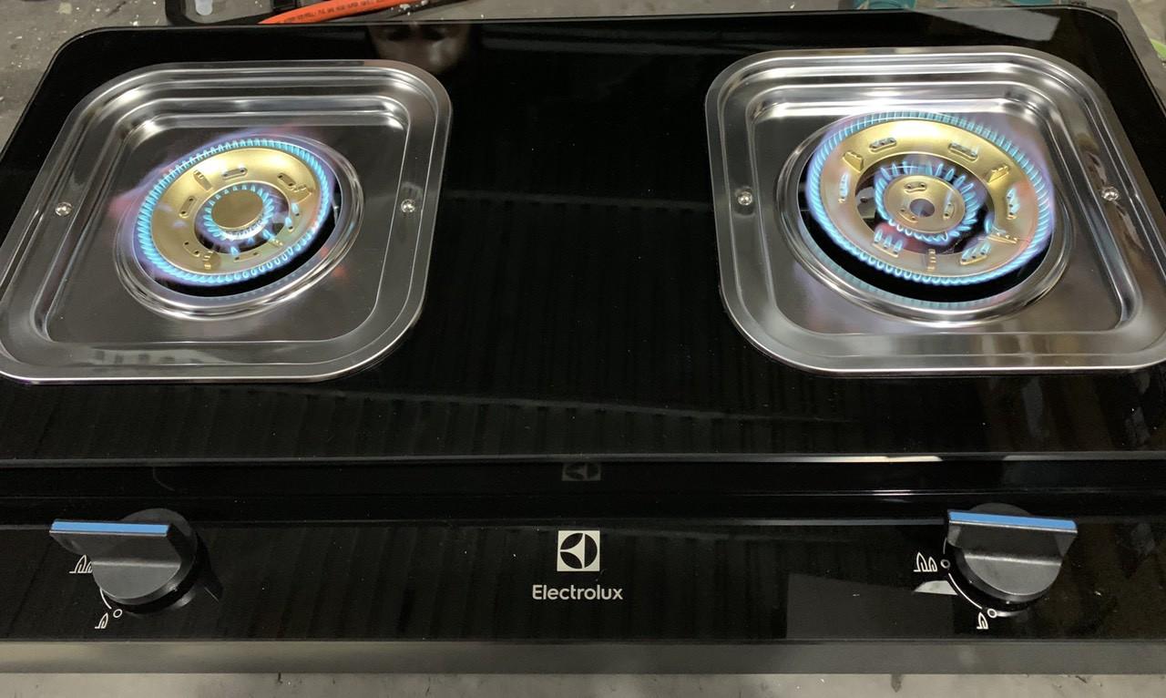 Bếp gas Electrolux ETG728GKR-Chính hãng trưng bày,Mặt bếp bằng kính cường lực,Đánh lửa Magneto