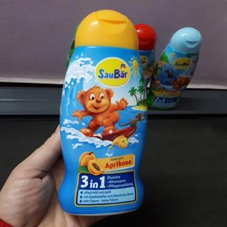 Sữa tắm, dầu gội, xả 3 trong 1 #Saubar Kids 3in1