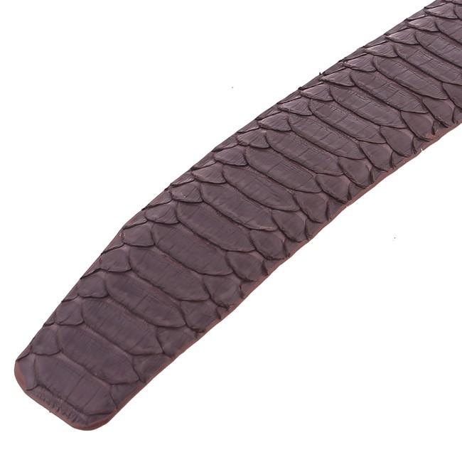 Thắt lưng nam Huy Hoàng da trăn Vip bản lớn đầu kim màu nâu