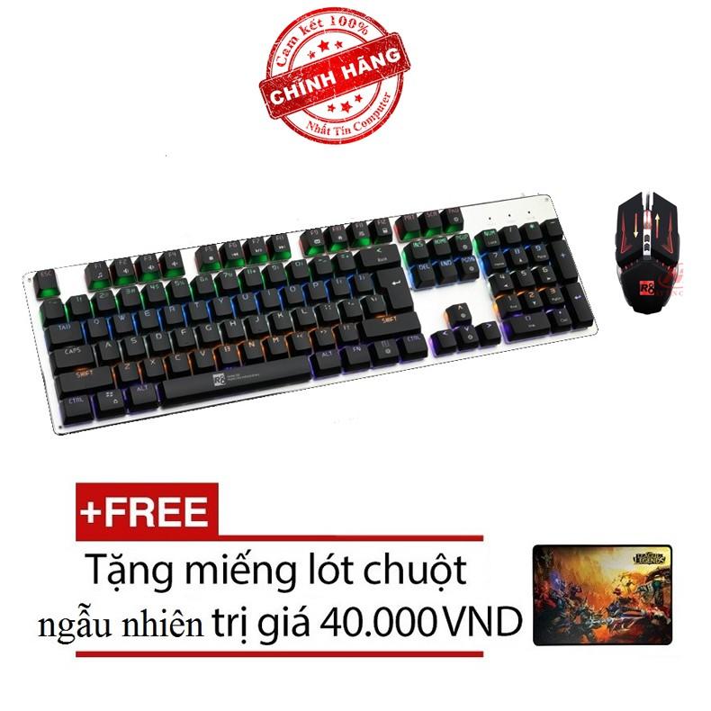 Bộ bàn phím cơ và chuột LED chơi Game R8 G100 - G1 (Đen) + Tặng kèm lót chuột - Hãng phân phối chính - 2567705 , 412291924 , 322_412291924 , 1019000 , Bo-ban-phim-co-va-chuot-LED-choi-Game-R8-G100-G1-Den-Tang-kem-lot-chuot-Hang-phan-phoi-chinh-322_412291924 , shopee.vn , Bộ bàn phím cơ và chuột LED chơi Game R8 G100 - G1 (Đen) + Tặng kèm lót chuột - H