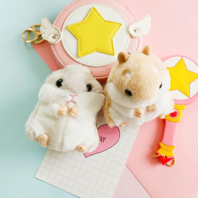 Móc khóa hình chuột hamster nhồi bông dễ thương