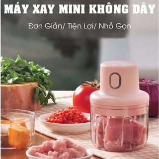 Máy xay thịt cầm tay mini sạc điện 250ml – máy xay tỏi ớt, củ quả đa năng, có cổng sạc usb