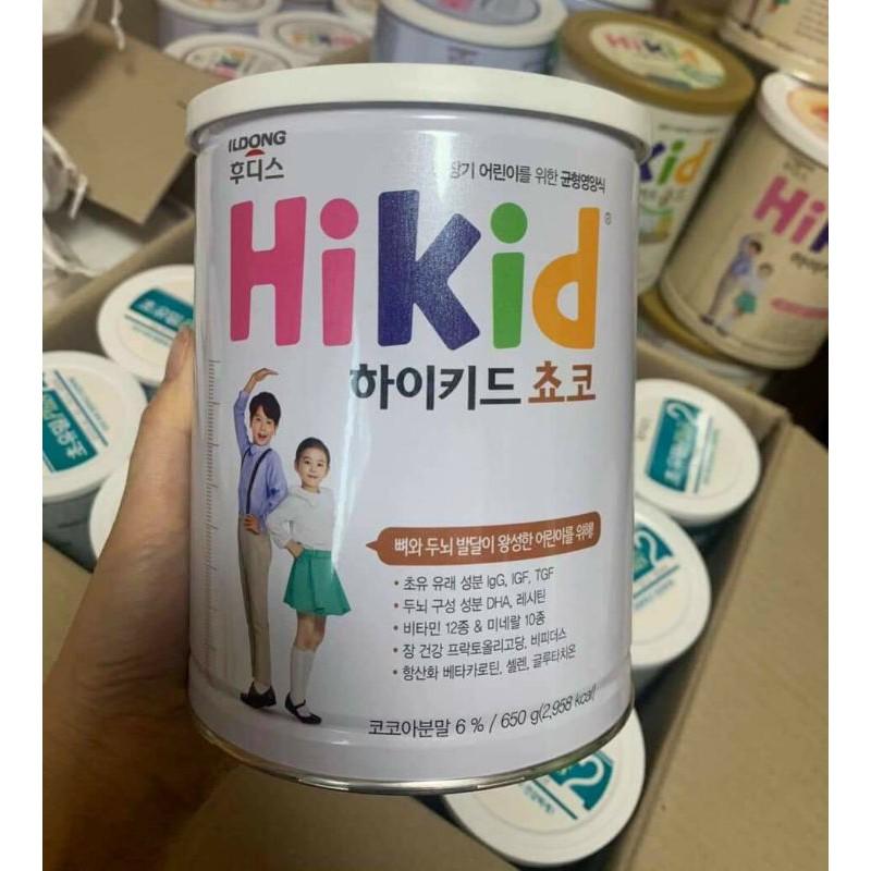 [Mã 267FMCGSALE giảm 8% đơn 500K] Sữa Hikid vị Socola 650g