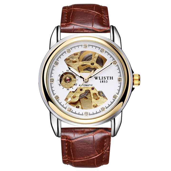 Đồng hồ cơ lộ máy Automatic WLISTH chính hãng cho nam