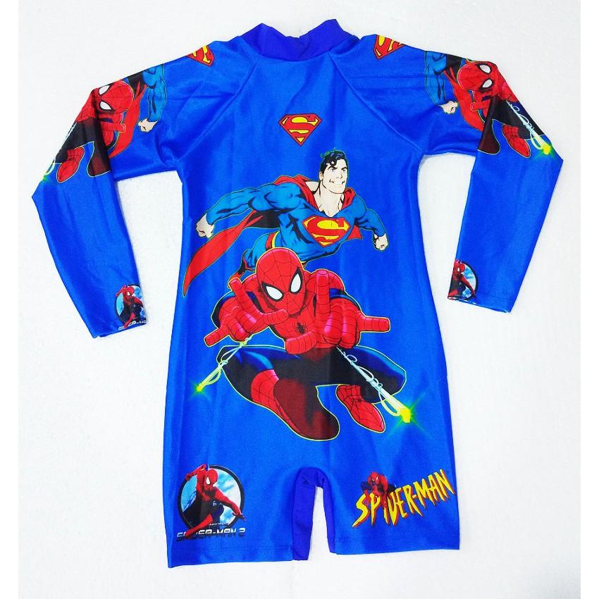 Đồ bơi người Nhện Super Man bé trai dài tay D1