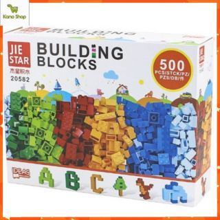 Bộ 500 khối Lego xếp hình 6 màu