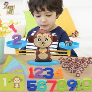Hkty Monkey Puppy Scale Balance Early Education Mathematics Teaching Addition and Subtraction Arithmetic Children's Inte