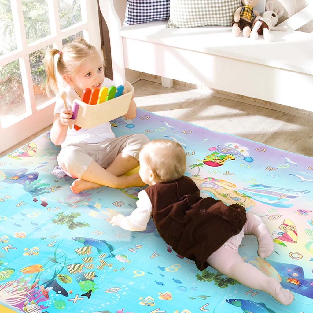 2×1.8m Baby Children Crawling Play Mat Floor Carpet Rug Pad Activity Game Picnic
