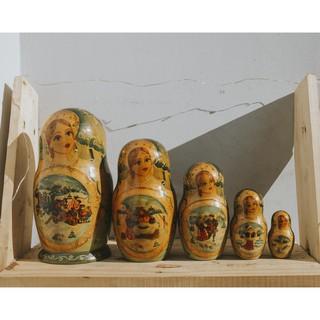 [Đồ cũ] Búp bê Nga Matryoshka từ Moscow