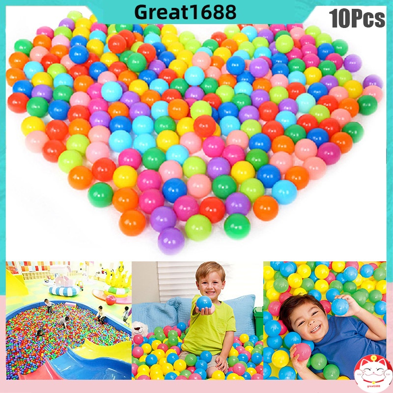 10 Pcs Colorful Play Balls Toy Educational Gift for Children Kids Indoor Playpen Party