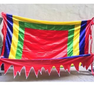 Cờ thần 3m*3m cờ ngũ sắc cờ chùa cờ lễ hội