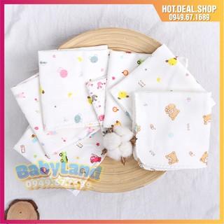 [Mã FMCGSALE55 giảm 8% đơn 500K] Gói 10 cái khăn xô sữa 2 lớp in hoa xuất Nhật cho bé