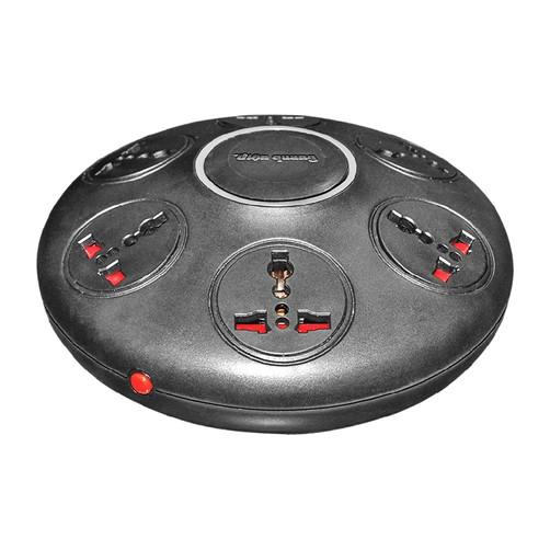 Ổ cắm kiểu UFO 6 lỗ 3 chấu dây 2m Điện Quang ĐQ ESK.2B.106 2860W (Đen)