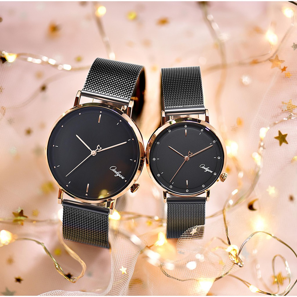 Đồng hồ Onlyou Nam 328066GE-2 Dây Lưới 42mm