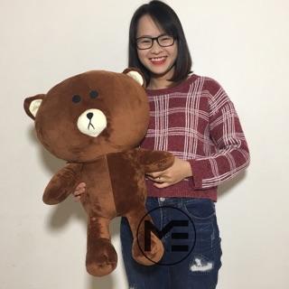 Gấu Bông Brown 85cm Khổ Vải Cao Cấp Cao 65cm