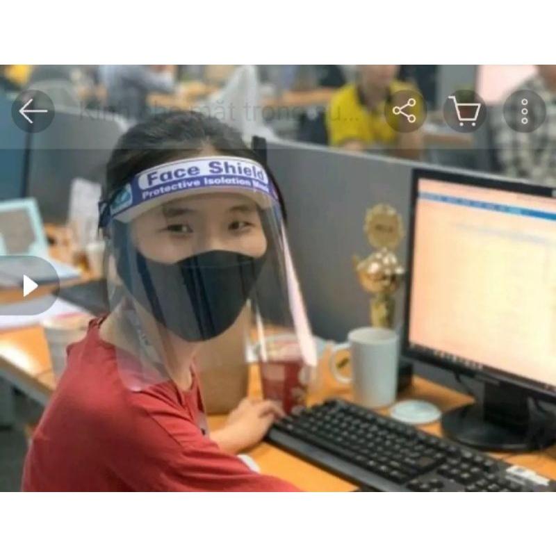 [ Hàng Loại 1 ] 《ĐẠI LÝ SỈ LẺ》Mặt Nạ Phòng Dịch, Mặt Nạ Kính Face Shield, Kính Phòng Dịch,...