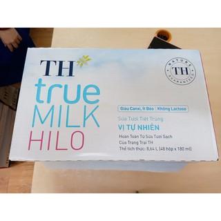 Sữa tươi không đường ít béo Hilo 180ml của TH true milk
