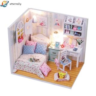 eternally 11.24 DIY Model Wooden Building Blocks Miniature Doll House Furniture Gift Toys