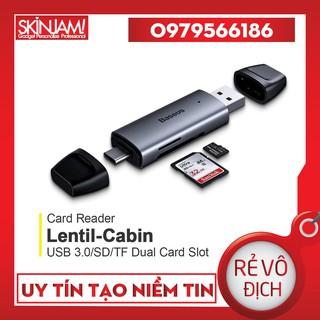 Đầu Đọc Thẻ Nhớ Baseus Lentil-Cabin 2 in 1 USB & C Hỗ Trợ USB 3.0, SD/TF Cho Máy Tính , Điện Thoại, iPad