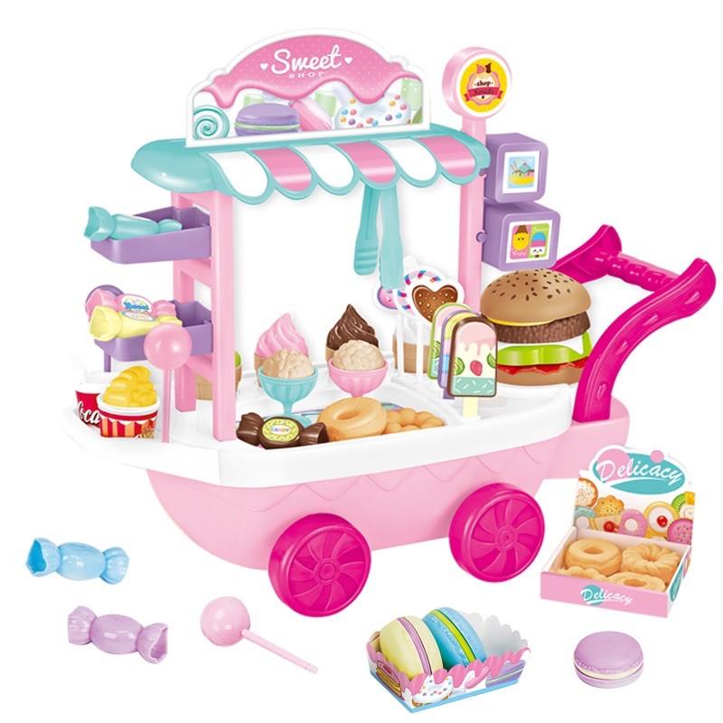 (Loại đẹp mới về) Xe kem đồ chơi cho bé
