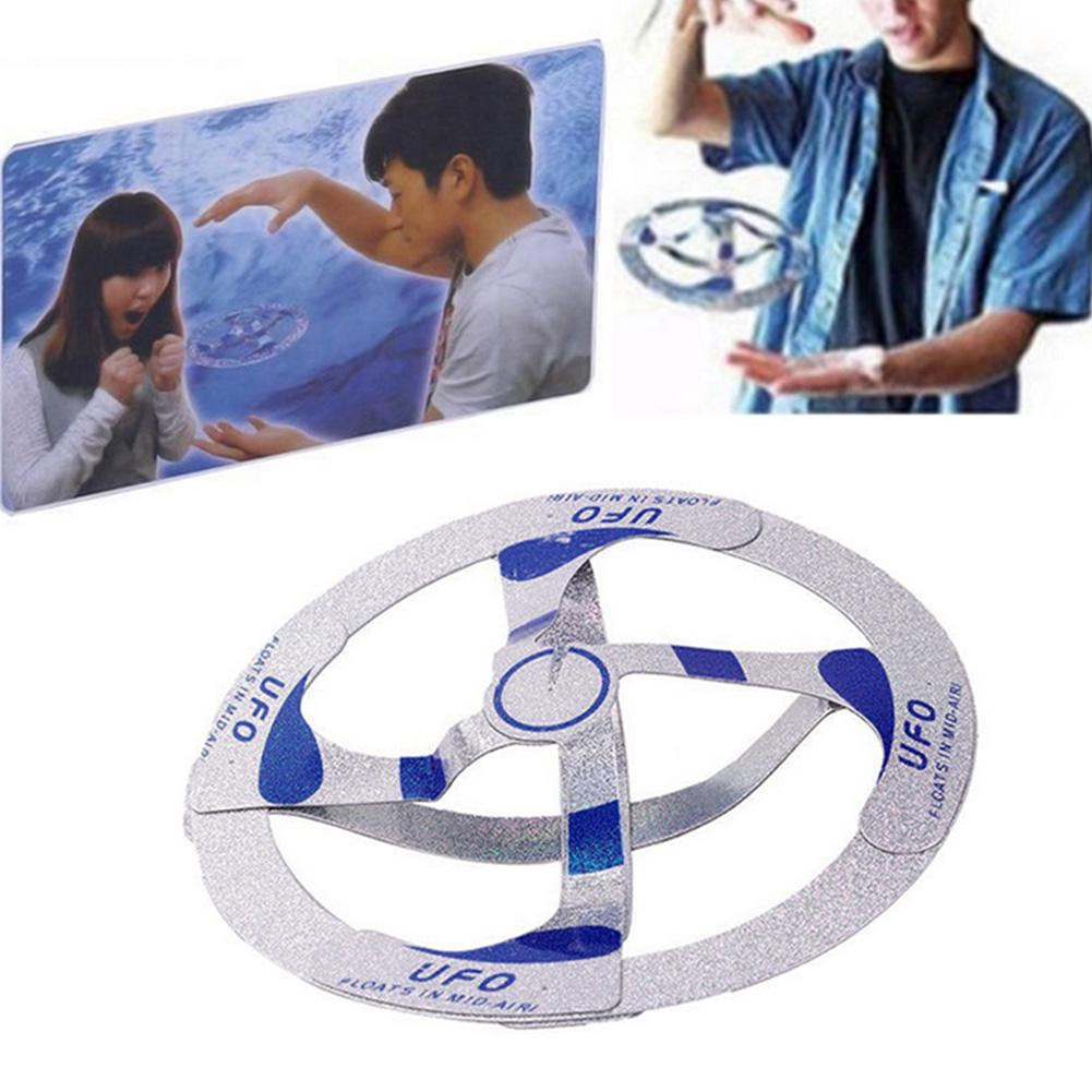 Hot Sell Mystery UFO Floating Flying Disk Hovers Saucer Magic Trick Toy New